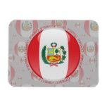 Bandera de la burbuja de Perú Imanes Rectangulares