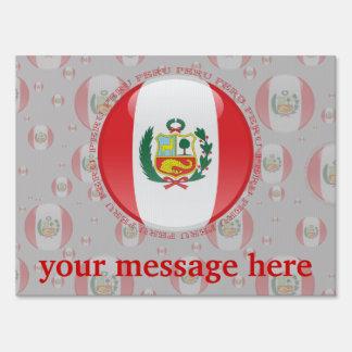 Bandera de la burbuja de Perú Letrero