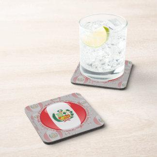 Bandera de la burbuja de Perú Posavasos De Bebida