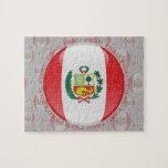 Bandera de la burbuja de Perú Rompecabeza Con Fotos