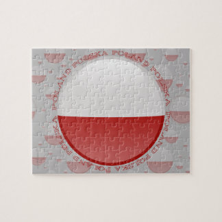 Bandera de la burbuja de Polonia Puzzles