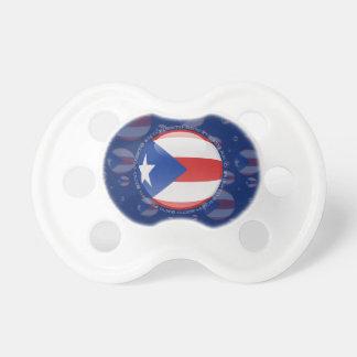 Bandera de la burbuja de Puerto Rico Chupetes Para Bebes