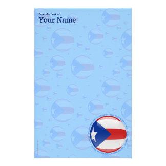 Bandera de la burbuja de Puerto Rico Papeleria De Diseño