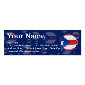 Bandera de la burbuja de Puerto Rico Tarjetas De Visita Mini