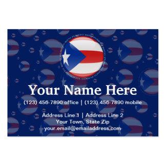 Bandera de la burbuja de Puerto Rico Tarjetas De Visita Grandes