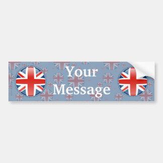 Bandera de la burbuja de Reino Unido Pegatina De Parachoque