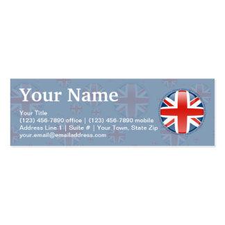 Bandera de la burbuja de Reino Unido Tarjetas De Visita Mini