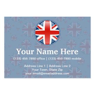 Bandera de la burbuja de Reino Unido Tarjetas De Visita Grandes