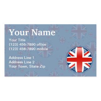 Bandera de la burbuja de Reino Unido Tarjetas De Visita