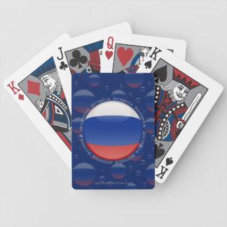 Bandera de la burbuja de Rusia Baraja Cartas De Poker