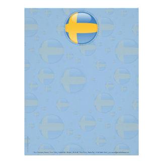 Bandera de la burbuja de Suecia Membrete