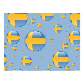 Bandera de la burbuja de Suecia Postales