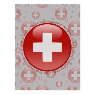 Bandera de la burbuja de Suiza Tarjeta Postal
