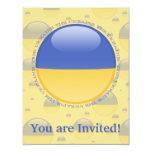Bandera de la burbuja de Ucrania Invitación 10,8 X 13,9 Cm