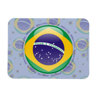 Bandera de la burbuja del Brasil Imanes Flexibles