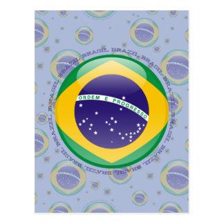 Bandera de la burbuja del Brasil Tarjeta Postal