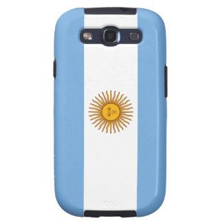 Bandera de la caja de la galaxia de la Argentina S Galaxy S3 Carcasa