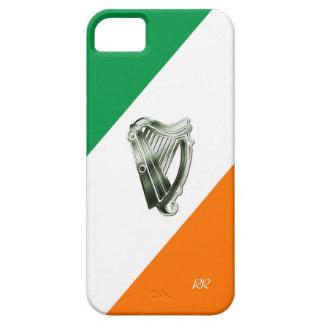 Bandera de la caja verde del iPhone 5 de la arpa iPhone 5 Fundas