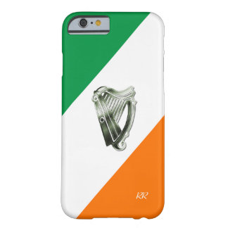 Bandera de la caja verde del iPhone 6 de la arpa Funda De iPhone 6 Barely There