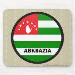 Bandera de la calidad de Abjasia Roundel Tapete De Raton