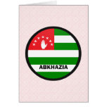 Bandera de la calidad de Abjasia Roundel Tarjeta