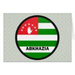 Bandera de la calidad de Abjasia Roundel Felicitación