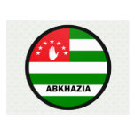 Bandera de la calidad de Abjasia Roundel Tarjeta Postal
