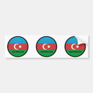 Bandera de la calidad de Azerbaijan Roundel Etiqueta De Parachoque