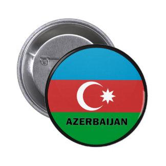Bandera de la calidad de Azerbaijan Roundel Pin Redondo 5 Cm