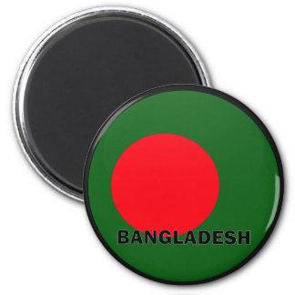 Bandera de la calidad de Bangladesh Roundel Imán Redondo 5 Cm