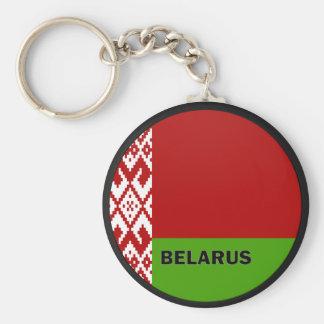 Bandera de la calidad de Bielorrusia Roundel Llavero Redondo Tipo Pin