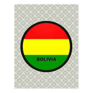 Bandera de la calidad de Bolivia Roundel Tarjetas Postales