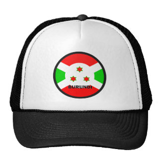 Bandera de la calidad de Burundi Roundel Gorras De Camionero