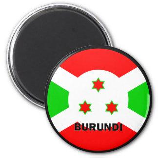 Bandera de la calidad de Burundi Roundel Imán Para Frigorífico