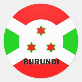 Bandera de la calidad de Burundi Roundel Pegatina Redonda