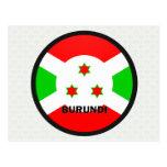 Bandera de la calidad de Burundi Roundel Tarjetas Postales
