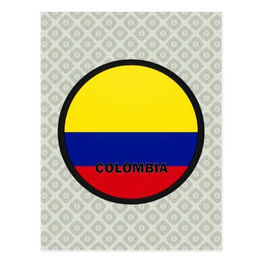 Bandera de la calidad de Colombia Roundel Tarjetas Postales