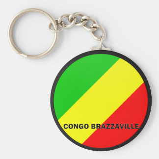 Bandera de la calidad de Congo Brazzaville Roundel Llavero