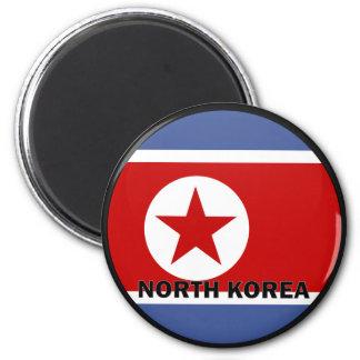 Bandera de la calidad de Corea del Norte Roundel Iman De Nevera