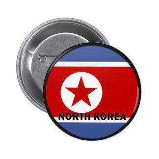 Bandera de la calidad de Corea del Norte Roundel Pin