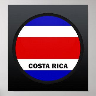 Bandera de la calidad de Costa Rica Roundel Impresiones
