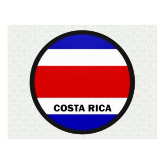 Bandera de la calidad de Costa Rica Roundel Tarjeta Postal