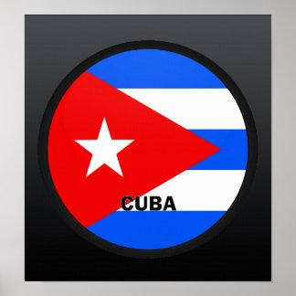 Bandera de la calidad de Cuba Roundel Posters