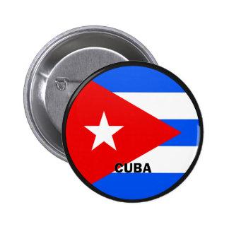 Bandera de la calidad de Cuba Roundel Pin Redondo De 2 Pulgadas