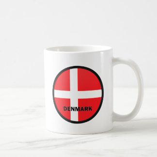 Bandera de la calidad de Dinamarca Roundel Taza