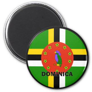 Bandera de la calidad de Dominica Roundel Imán