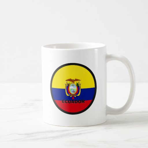 Bandera de la calidad de Ecuador Roundel Taza Básica Blanca