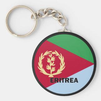 Bandera de la calidad de Eritrea Roundel Llavero Redondo Tipo Pin