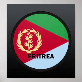 Bandera de la calidad de Eritrea Roundel Póster