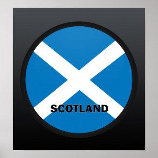 Bandera de la calidad de Escocia Roundel Poster